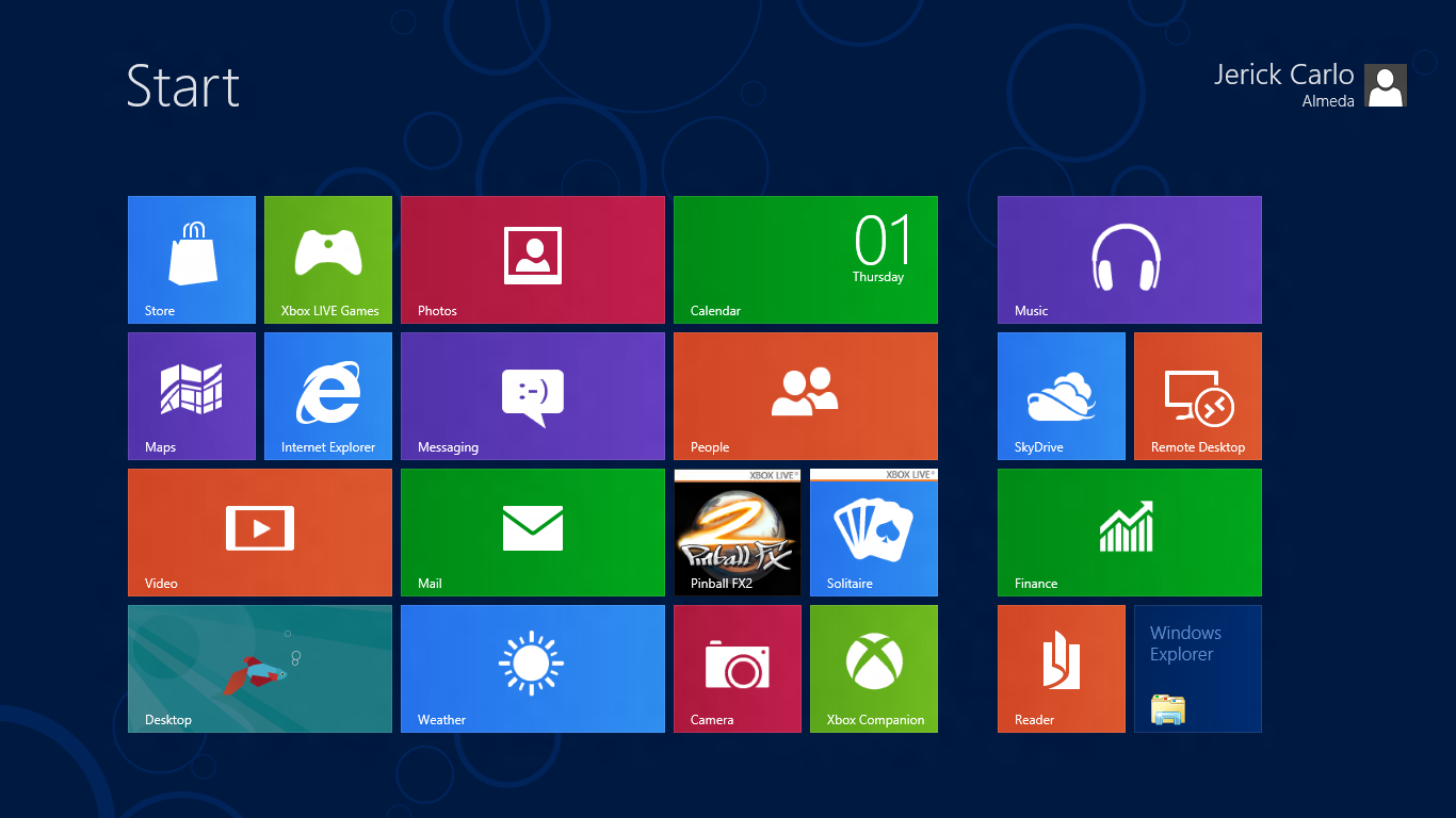 Image result for windows 8 start menu